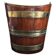 18th Century Mahogany and Brass Wine Cooler