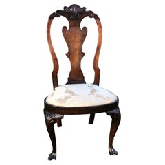 Queen Anne Carved Walnut Side Chair, Philadelphia, circa 1750