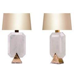 Rocco Rock Crystal Lamps by Phoenix
