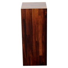 Mid-Century Modern Tall Square Rosewood Pedestal Display Table, 1960s