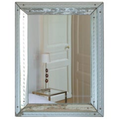 French Art Deco Mirror Attributed to Jacques Adet, 1940s