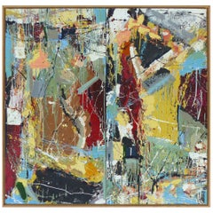"""William Phelps Montgomery Abstract Mixed-Media Painting """"Frenzy"""", 2016"""