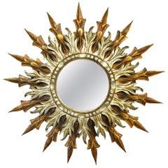 Stunning Early 20th Century Sunburst Mirror