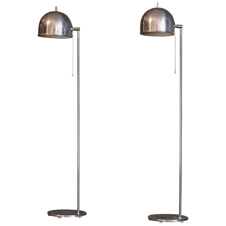 Pair of Floor Lamps Model G-075 by Bergboms, Sweden, 1960s For Sale