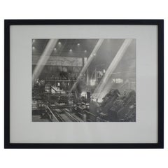 Black and White Industrial Factory Scene Photograph, American, 20th Century