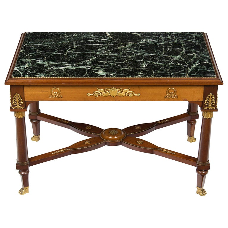 dac27c447f Antique Marble Top Coffee Table Set - Best Coffee In The World