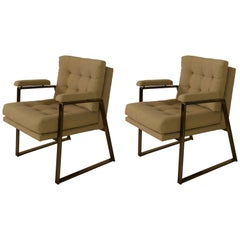 Pair of Office Chairs in Bronze by Patrician Furniture