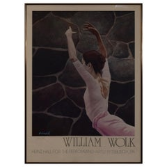 William Wolk 1982 Signed Poster