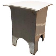 Vintage Tariki Studio Ceramic Stool End Table