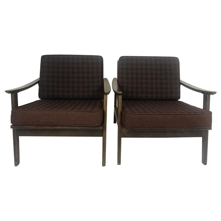 Otto Gerdau Pair Of Midcentury Lounge Chairs Made In Italy