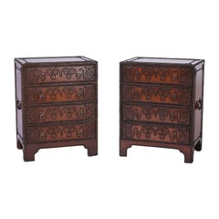 Pair of Anglo-Indian Leather Clad Studded Chests