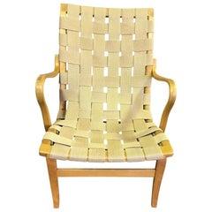 Original Swedish Designer Bruno Mathsson Bent Beechwood Eva Armchair