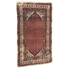 Antique Distressed Malayer Style Rug