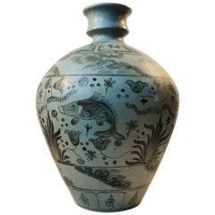 Monumental Danish Art Deco Pottery Floor Vase, 1930s