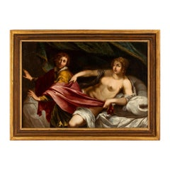 Italian 17th Century Old Master Oil Painting in it's Original Frame