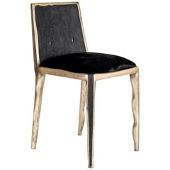 Melting Chair in Black Shagreen and Bronze-Patina Brass by R&Y Augousti