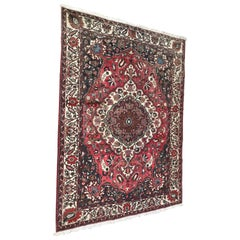 Beautiful Vintage Bakhtiar Design Hand Knotted Rug
