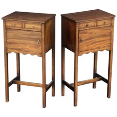 English Georgian Style Nightstands or Bedside Cabinets  'Priced as Pair'