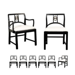 Chic Set of 8 Dining Chairs by Michael Taylor for Baker Furniture, circa 1960