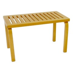 Diminutive Alvar Aalto for Artek Blonde Bench or Side Table