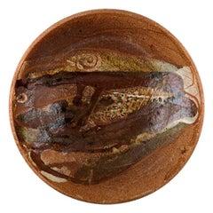 Ivy Lysdal, Danish Ceramist and Painter, Unique Bowl in Glazed Ceramics