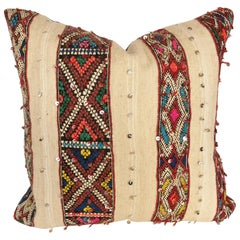 Custom Pillow by Maison Suzanne Cut from a Vintage Wool Moroccan Berber Blanket