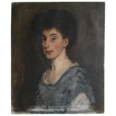 Early 20th Century, Oil On Canvas Portrait by Campbell Lindsay Smith