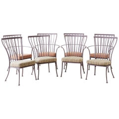 Set of Eight O.W. Lee Patio Garden Dining Chairs