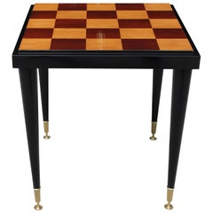 Stunning French Art Deco Ebony and Sycamore Center Table or Game Table