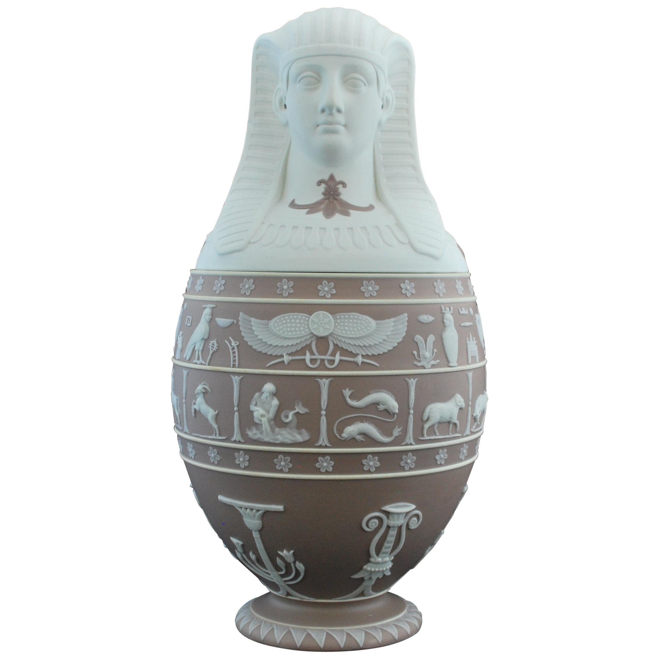 Canopic Jar, Lilac Jasperware Wedgwood, 1877