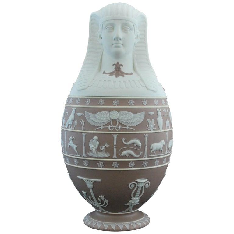 Canopic Jar, Lilac Jasperware Wedgwood, 1877 For Sale