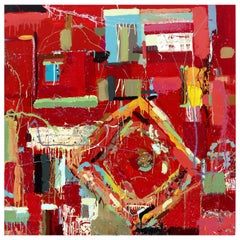 """William P. Montgomery Abstract Mixed Media Painting """"Rocket Science #3"""""""