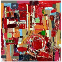 """William P. Montgomery Abstract Mixed Media Painting """"Rocket Science #2"""""""