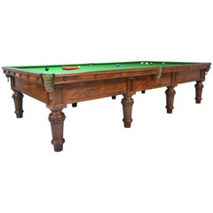 Scottish Victorian Billiard Snooker Pool Table Walnut, Made 1870