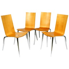 Set of 4 Olly Tango Chairs by Philippe Starck for Driade Aleph, Made in Italy