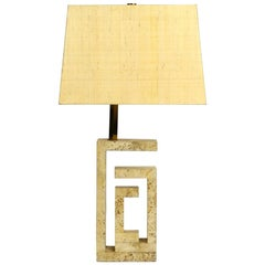 Elegant and Very Large Italian Sculptural Travertine Table Lamp from the 1960s