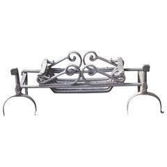 18th Century English Georgian Fireplace Grate or Fire Basket
