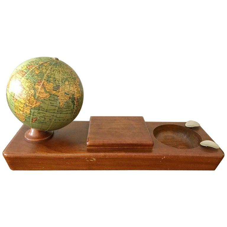 Desk Set with a Columbus Globe by Paul Oestergaard, circa 1950 For Sale