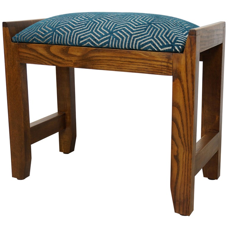 Fantastic French Art Deco Design Wooden And Fabric Stool Gmtry Best Dining Table And Chair Ideas Images Gmtryco