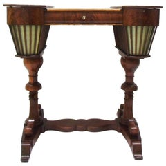 1830s Mahogany Biedermeier Sewing Table from Germany