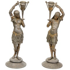 Pair of Candleholders, Calamine, Possibly France, 19th Century