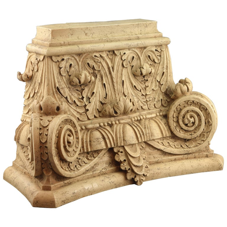 Classical Capital, Modeled Alabaster, 20th Century For Sale