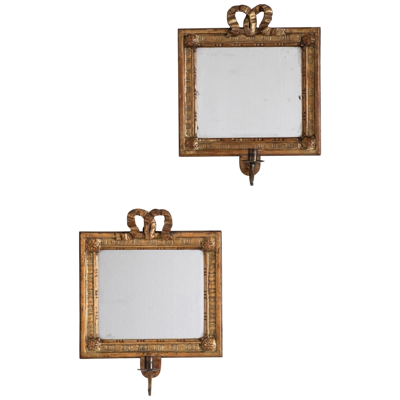19th Century Gustavian Mirror Scones