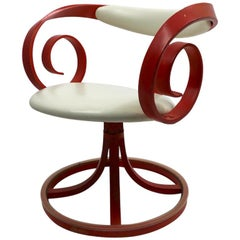 George Mulhauser for Plycraft Scroll Arm Sultana Swivel Chair