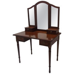 Art Deco Vanity Table with a Foldable Mirror Top