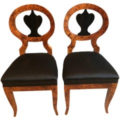 Pair of Biedermeier Chairs, Baltic States 1810-20