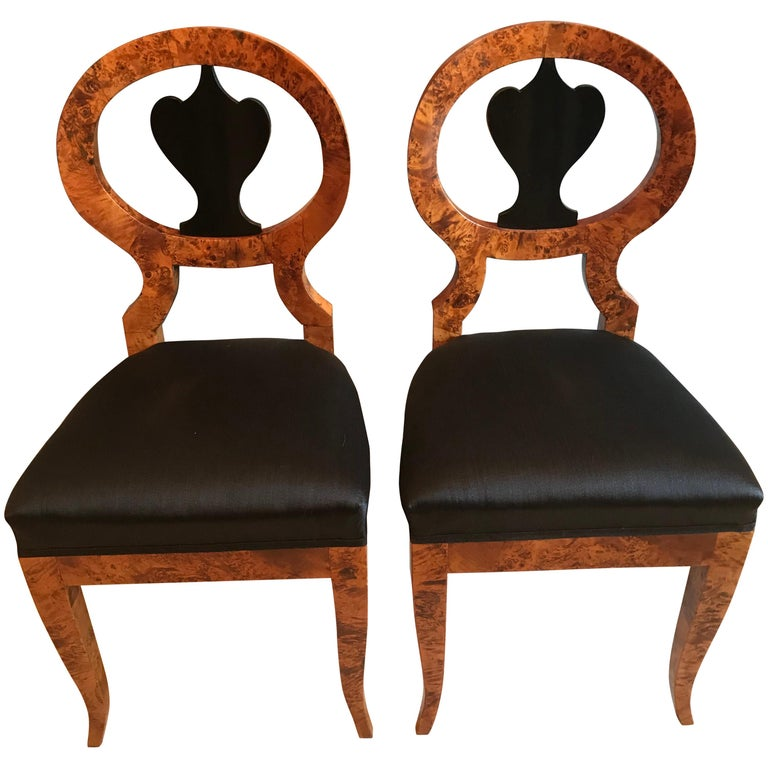 Pair of Biedermeier Chairs, Baltic States 1810-20 For Sale
