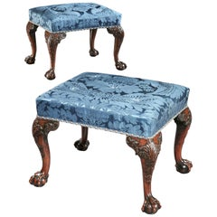 Pair of George III Mahogany Stools