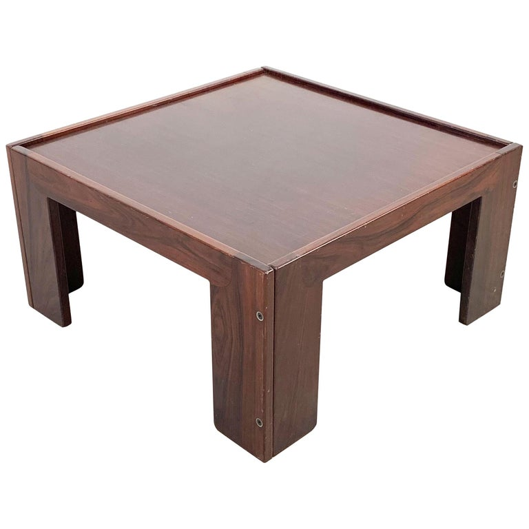Afra and Tobia Scarpa, Square Table, for Cassina, Italy, 1970s For Sale