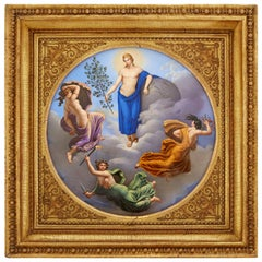 Important Early 19th Century KPM Porcelain Plaque of Royal Provenance